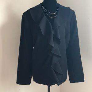 Jones studio ruffled jacket 14 like new